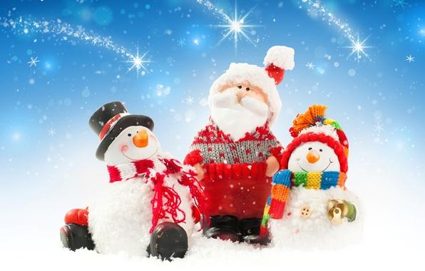 Картинка снег, Новый Год, Рождество, снеговик, christmas, new year, winter, snow, snowman