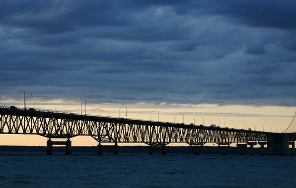 Картинка Мост, Пролив, Машины