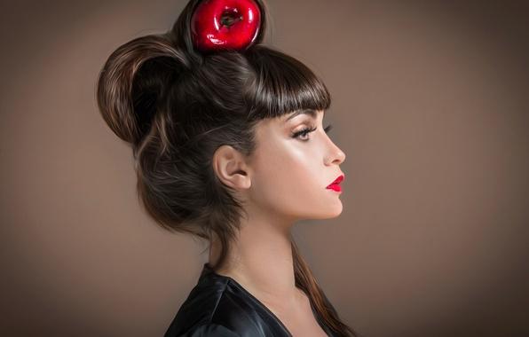 Картинка портрет, макияж, причёска, студия, Red Apple