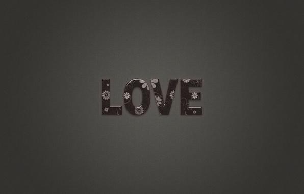 Картинка любовь, буквы, серый, фон, надпись, минимализм, love, слова