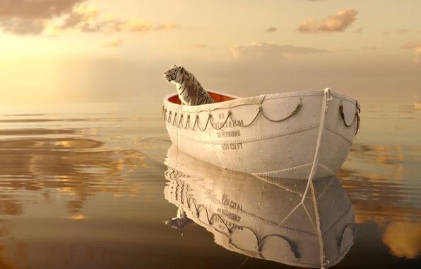 Картинка море, волны, небо, взгляд, вода, свет, пейзаж, отражение, океан, кино, фильм, лодка, рябь, горизонт, приключения, …