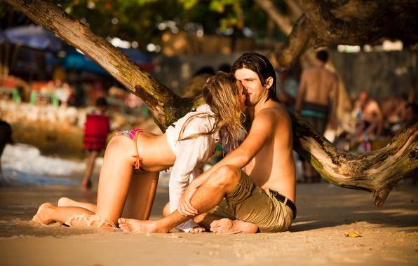 Картинка море, пляж, купальник, лето, девушка, любовь, счастье, love, парень, отношения, таиланд, beach, model, thailand, влюбленность, …
