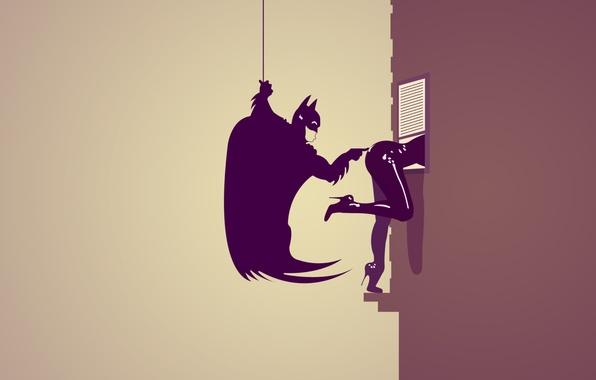 Картинка Девушка, Бэтмен, Женщина-кошка, ass, Попка, Batman, Брюс Уэйн, DC Comics, Catwoman, Селина Кайл, Bruce Wayne, …