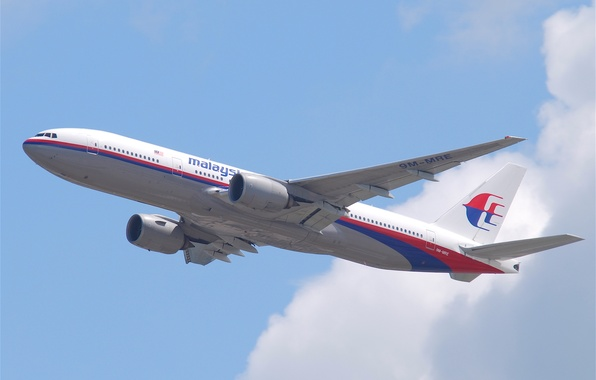Картинка Небо, Погода, Крылья, Boeing, Высота, Полёт, Sky, Боинг, Малайзия, Airlines, 777, Airplane, Flying, Самолёт, Пассажирский, …