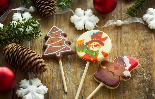 Картинка снежинки, еда, Новый Год, Рождество, конфеты, сладости, christmas, Christmas, шишки, food, праздники, New Year, Holidays, …