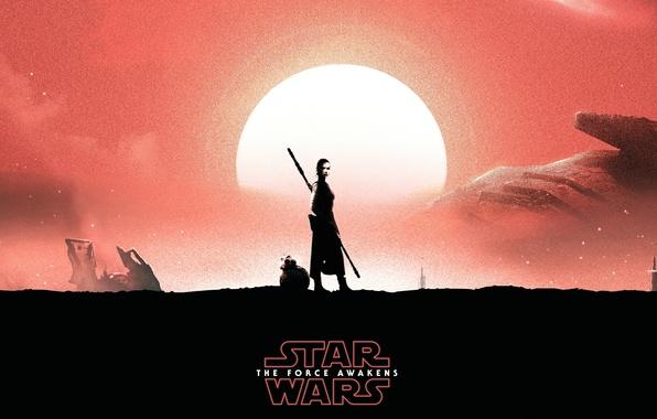 Картинка девушка, робот, star wars, The Force Awakens, Star Wars: Episode VII - The Force Awakens, …