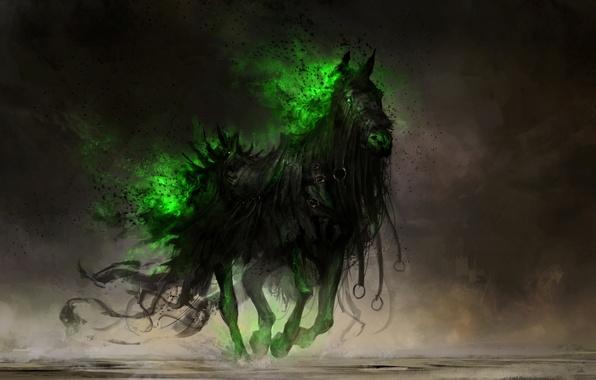 Картинка конь, арт, голод, Thedurrrrian
