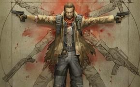 Картинка оружие, Xbox 360, NeverDead, Playstation 3., золотое сечение
