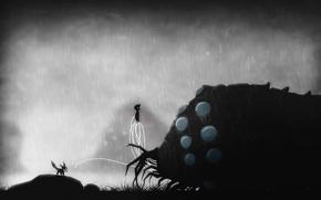 Картинка монстр, мальчик, арт, Limbo