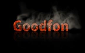 Картинка goodfon, хороший фон, горячий шрифт
