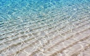 Обои песок, море, волны, безмятежность