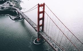 Картинка мост, США, вид сверху, Сан - Франциско