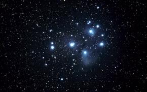 Обои Плеяды, M45, звёздное скопление, в созвездии Тельца