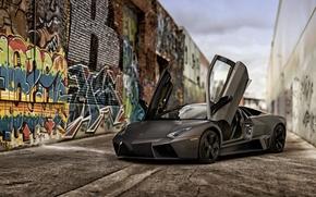 Картинка 2008, Lamborghini, Reventon, ламборджини, ревентон, US-spec