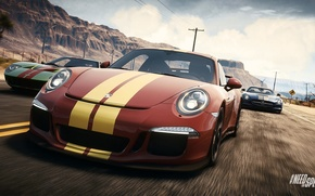 Обои Porsche, Ford GT, Need for Speed, nfs, Mercedes SLS, 2013, Rivals, NFSR, 911GT3