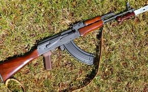 Картинка оружие, Калашникова, штык-нож, AKM, автомат