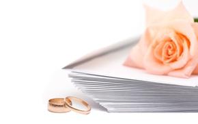 Картинка роза, Обручальные кольца, свадьба, конверты