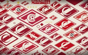 Картинка полоса, логотип, Москва, красно-белый, Moscow, Спартак, Spartak, СпартакМосква