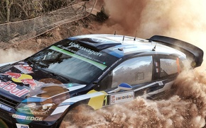 Картинка Пыль, Volkswagen, WRC, Rally, Polo, Ogier, VW