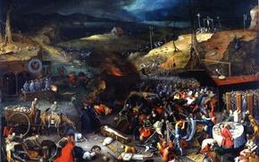Картинка музыка, золото, ловушка, трупы, скелеты, painting, гробы, нарды, картина.торжество смерти, the triumph of death, чума, ...