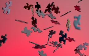 Обои puzzle, falling, pieces
