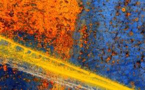 Картинка оранжевый, синий, Пятна