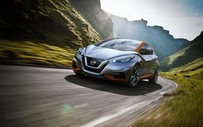 Картинка 2015, Nissan, концепт, Sway, хэтчбек, Concept, ниссан