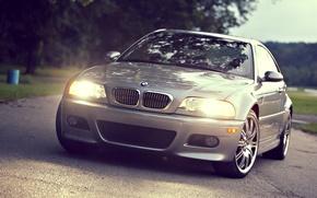 Картинка свет, фары, cars, auto, Bmw, wallpapers auto, обои авто, вид с переди, Bmw m3