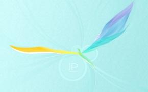 Обои крылья, минимализм, вектор, Птица
