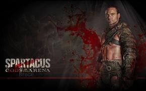 Обои гладиатор, боги арены, воин, сериал спартак, spartacus, песок и кровь