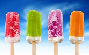 Обои цвет, мороженное, еда
