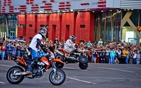 Картинка праздник, мотоциклы, выступление, мото шоу