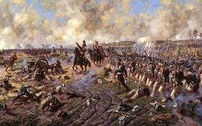 Картинка масло, картина, холст, художник А. Аверьянов, отечественная война 1812 года