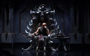The Chronicles of Riddick, Хроники Риддика, Вин Дизель, Vin Diesel, трон, зал обои