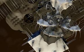Обои fractal, форма, фон, абстракция