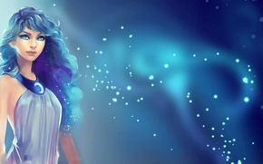 Картинка девушка, звезды, рисунок, фэнтези, арт, girl, fantasy, art, stars, фанарт, fanart, My Little Pony, аликорн, ...