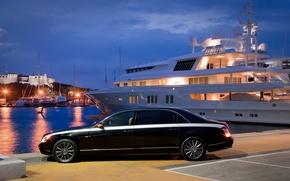 Картинка машины, яхта, Maybach, майбах
