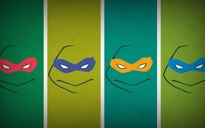 Картинка минимализм, Teenage Mutant Ninja Turtles, blo0p, Черепашки Ниндзя