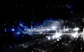 Обои небо, звезды, абстракция