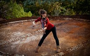 Обои violin, скрипка, красавица, Линдси Стирлинг, Lindsey Stirling, скрипачка