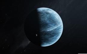 Картинка space, light, blue, planet