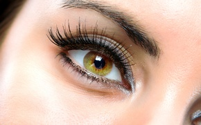 Картинка woman, eyes, brown, eyelash