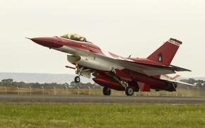 Картинка истребитель, взлет, Fighting Falcon, F-16C, «Файтинг Фалкон»