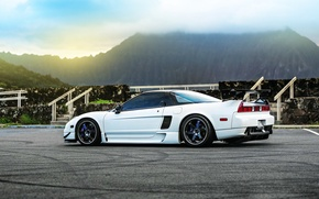 Картинка car, white, honda, tuning, nsx