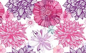 Обои линии, цветы, обои, краски