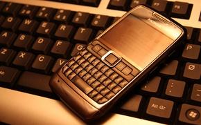 Картинка телефон, клавиатура, нокия, кверти, nokia e71