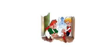 Картинка Карлсон, арт, Малыш, детская