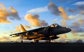 Картинка авиация, самолет, истребитель, разведчик, тактический, Харриер, Бритиш, Аэроспейс, вертикальным, взлетом, посадкой, Великобритания.