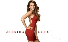 Картинка улыбка, модель, звезда, платье, актриса, красавица, jessica alba, латинка, латина