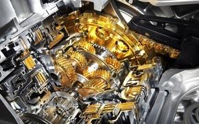 Обои металл, шестеренки, двигатель